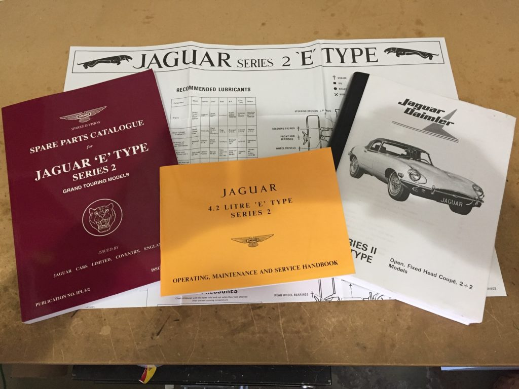 1970 Jaguar Xke Series Ii Coupe For Sale Vintage Motors Of Lyons E Type Wiring Diagram L To R Spare Parts Catalogue These Are Practical Not Only The Correct Part Number And Identification But Exploded Diagrams As Well
